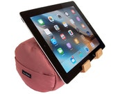 The EZread Tablet Bolster  - Made in USA - Eco-Friendly - Easy Hands-Free Viewing - Perfect iPad Pillow Stand for Bed, Sofa    (Desert Rose)