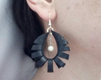 Earrings handmade upcycled