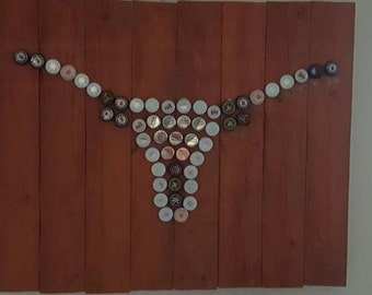 Bottle cap Texas Longhorn