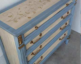 SOLD REDUCED 20%. Hand painted Permacraft Hall Chest