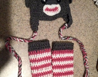 Just Monkeying Around Hat and Leg Warmer Set