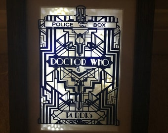 Doctor who battery powered light up frame 5x7