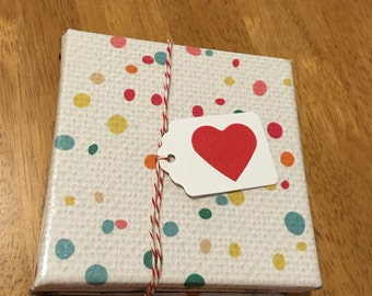 Tile Coasters - Set of Four - Spotty Glitter