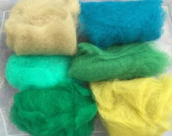 75% OFF! Wool Roving Carded Merino 6 Colors - Felting Spinning Felting Needle Felting Dry Felting Wet Felting Wool Painting 6G2