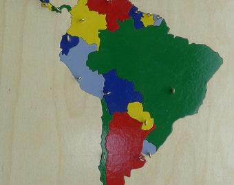 South America: Wooden Puzzle