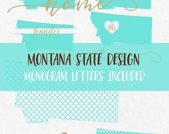 Montana State Svg Font Monogram Svg Cricut svg Silhouette svg designs state outline png dxf jpg svg bundle cutting files mermaid pattern