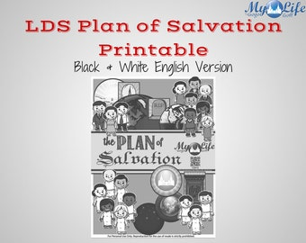 LDS Plan of Salvation Missionary/FHE Display Printable - English (B&W) Instant Download