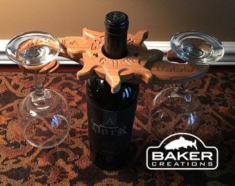 Personalized Wine Glass Holder Wedding present