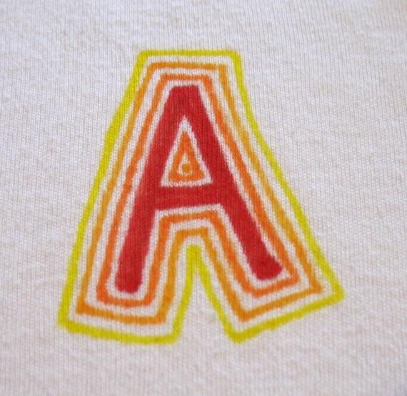 letter onesie
