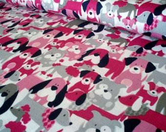 Cotton fabric Dog Dang It