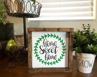 Home sweet home- home framed sign