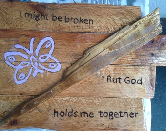 Epilepsy Custom Wood Sign - Epilepsy Butterfly - Epilepsy Awareness - Epilepsy Wall Sign - Epilepsy Quote - Warrior Strength - Rustic Sign