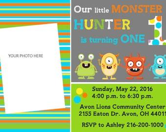 Monster Birthday Invite PDF FILE ONLY