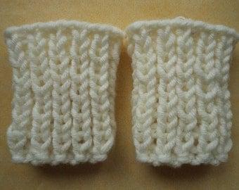 Leg warmers 50/56 Merino Wool Wadenwärmer knit leg warmers
