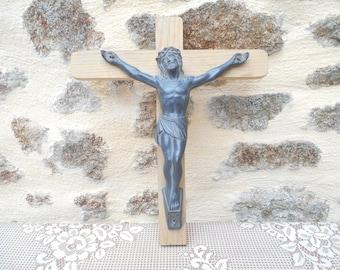 Large Vintage French Crucifix