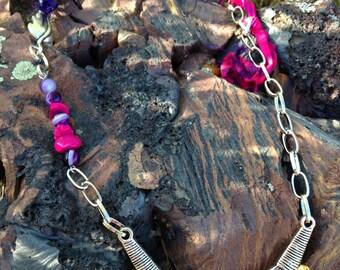 Sari Silk Bullet Casing Necklace