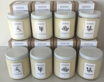 12 Essential Oil Candles - Wholesale