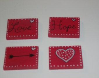 Red Hot Love Magnet Set