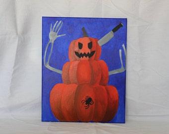 """Pumpkin Man (16"""" x 20"""")"""