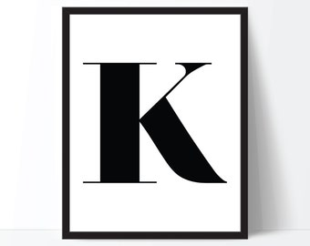 Custom Print, Monogram Print, Custom Digital Print, Typography Print, Monogram Art, Black and White Art, Monogram Poster, Custom Printable