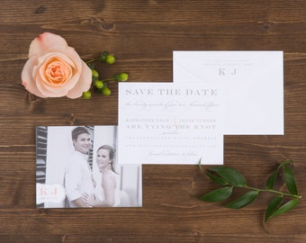 The Snapdragon Wedding Collection by Paper Daisies, Save the Dates, Monogram, SAMPLE SET