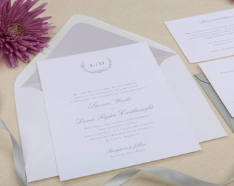 The Iris Wedding Collection by Paper Daisies, Invitation Suite, Classic, SAMPLE SET