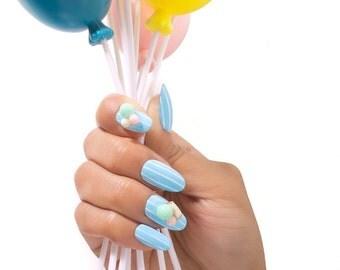 Kawaii Party Deco Gel Press on Nails -Set of 15 Nails