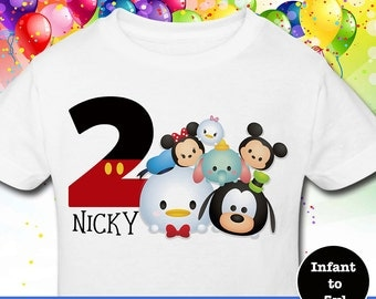 Birthday Tsum Tsum Shirt, Custom Tsum Tsum Birthday Shirt, Disney Custom Birthday Shirt