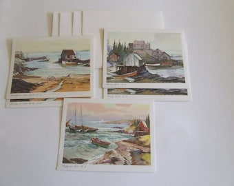 Austin Marshall Joseph Purcell Nova Scotia blank note cards East Coast art greeting cards letter writing 10 distinctive notes stationary
