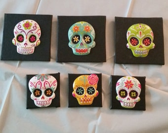 Dia de los Muertos Magnets!  For you or your Spanish Teacher  :)