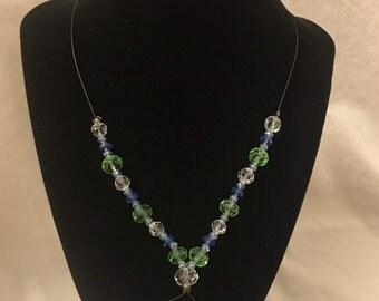 Oval Bubble Charm Necklace
