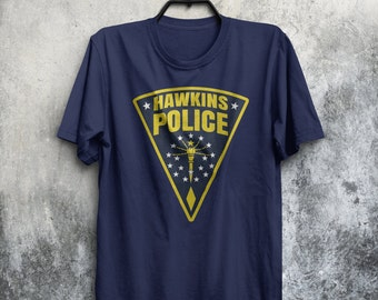 Hawkins Police Department Badge Sherif Stranger Things Inspired TV Show Eleven Adults Mens & Women's T-shirt Top Tee Shirt All Sizes Cols