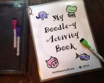 Activity Book for Road Trips & Restaurants -- My Doodle-y Activity Book