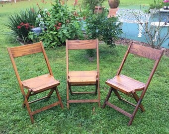1940s folding OAK chair from Snyder Chair CO.