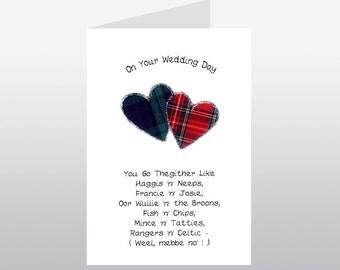 Scottish Wedding Card Go Thegither Poem WWWE47