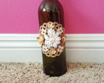 Rustic Wedding Wine Bottles