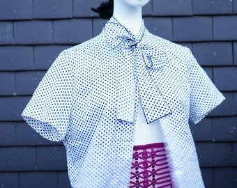 Polka Dot 50's Short Sleeve Blouse