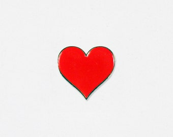 Heart Soft Enamel Lapel Pin - Hello Apparel Collaboration