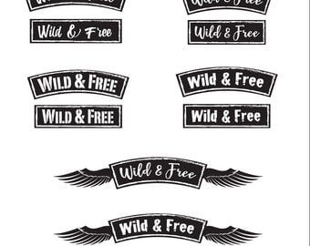 Wild & Free Banners - File Download - svg, png, dxf, eps, jpeg file formats