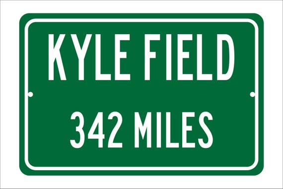 Custom College Highway Distance Sign to Kyle Field | Home of the Texas A&M Aggies | Personalized Distance to Kyle Stadium | Aggies Football