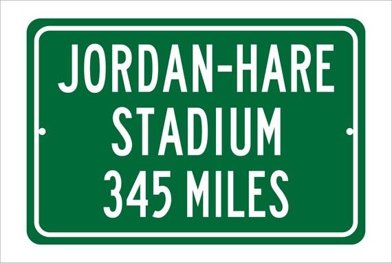 Custom College Highway Distance Sign to Jordan-Hare Stadium | Home of the Auburn Tigers | Personalized Distance to Jordan-Hare Stadium