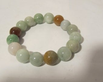 Multi Colored Jade Bracelet  (Grade A)