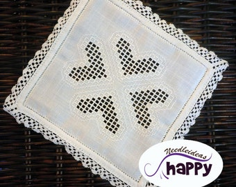 Doily crochet and hardanger home decor White Doily Crochet