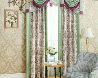 High-grade mosaic chenille curtains,curtains for living room,sheer curtains,kitchen curtains,window curtain living room,window curtain
