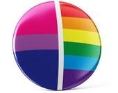 Bisexual pride pin button, Bisexual pin button, Bisexual pin, colorful pin badge, cool bag decoration, Bisexual decoration, bi flag