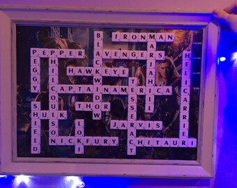 The Avengers Scrabble Frame