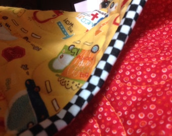 Baby Boy Flannel Wholecloth Quilt