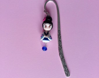 Bookmark Kokeshi Doll Fimo