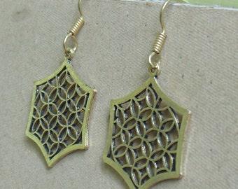 Gypsy Boho Earrings   Brass Dangle Earring   Indian Metal Jewelry   Bronze Earrings   Tribal Fusion Earring   New Year Gift Earrings   E30
