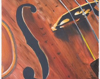 Print of oil painting from me made, especially of violin